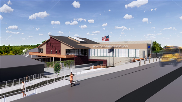 Architecture rendering of Mount Elden Middle School
