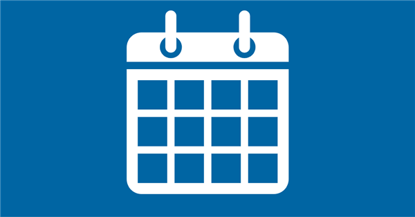 Calendar icon on blue background