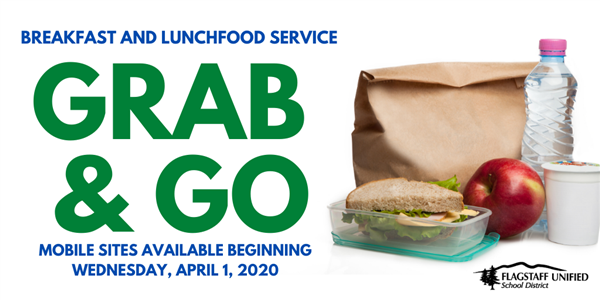 Grab and Go Food Service Now Available.  Mobile service begins April 1, 2020