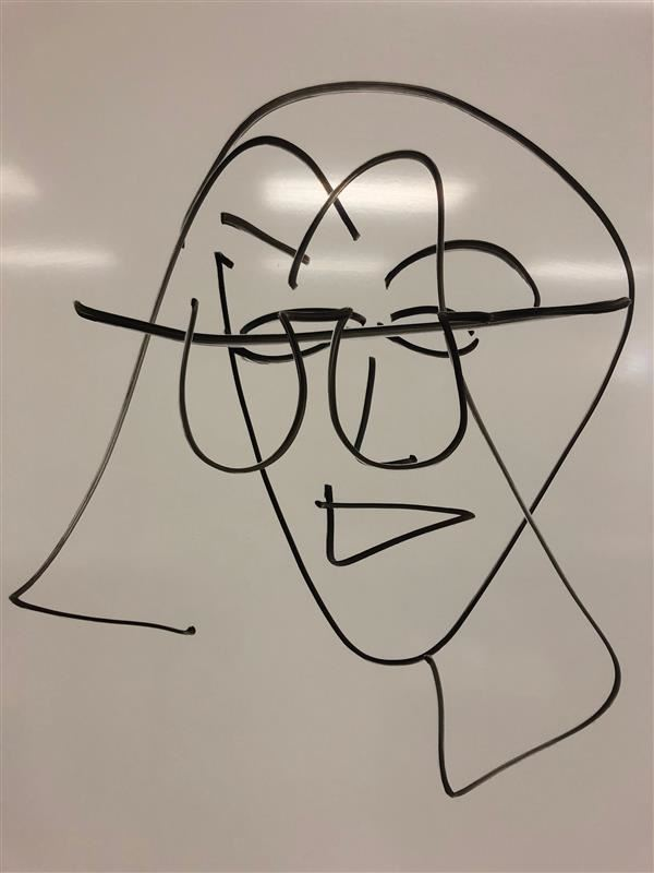 Mrs. Buzan: Eyes-closed Self Portrait