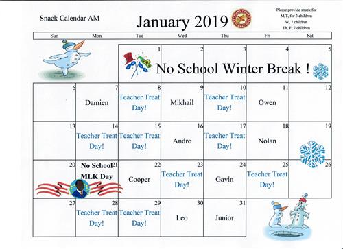 Pranke A Monthly Snack Calendar