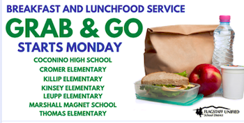 Grab and Go FoodServices starting at schools on Monday, March 23rd