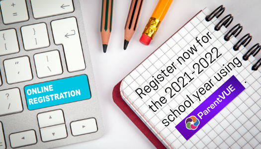 Register now for the 2021-2022 school year using Synergy