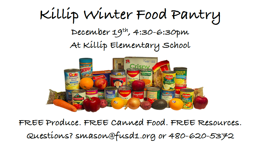 Winter Food Pantry, December 19th, 4:30-6:30 pm