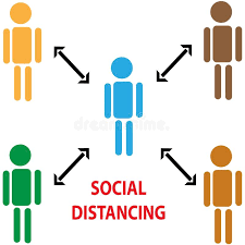 Please practice social and physical distancing.