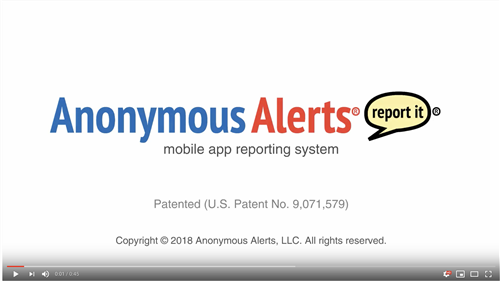 Anonymous Alerts YouTube Video screenshot with link.