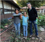 picture of students and FoodCorps Member in the Killip garden