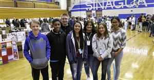 Photo of students attending an event at Sinagua Middle School