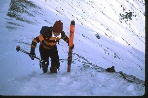 Climbing to ski!