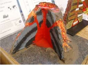 how to build a volcano science project