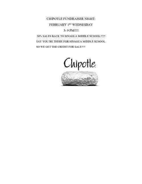 PTO Chipotle Fundraiser Night